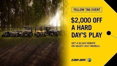 Can-Am Yellow Tag Event General Offer